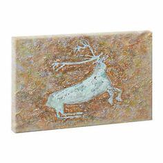 Hirsch 1 - Kunstdruck auf Leinwand -H-65cmB-100cm-Hochwertiges Bild
