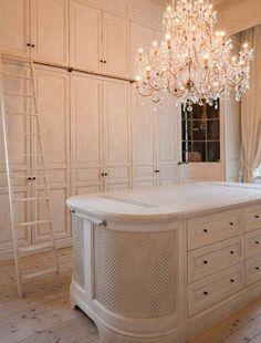 gorgeous white closet