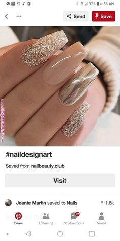 35 Simple Ideas for Wedding Nails Design 1 - Simple Wedding Nail Art. - 35 Simple Ideas for Wedding Nails Design 1 – Simple Wedding Nail Art Designs – Simple Wedding Nails, Wedding Nails Design, Nail Designs For Weddings, Gold Wedding Nails, Polish Wedding, Wow Nails, Cute Nails, Acrylic Nail Designs, Nail Art Designs