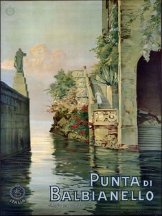 TETTAMANTI'S GALLERY: Lake Como Vintage Poster