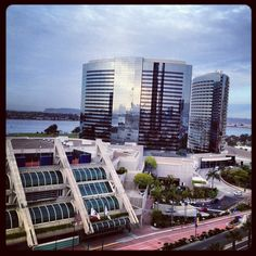 An outside view of the Marriott Marquis & Marina, and our neighbor the San Diego Convention Center!