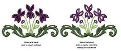 Image result for embroidered violets