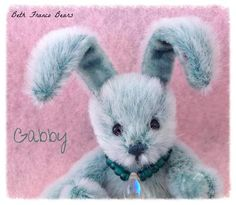 Gabby by Beth Franco Bears. She is 2.5 inches tall (without her ears!).