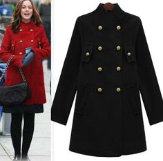 Morpheus Boutique  - Navy Double Breasted Long Sleeve Celebrity Wool Celebrity Coat, CA$153.83 (http://www.morpheusboutique.com/navy-double-breasted-long-sleeve-celebrity-wool-celebrity-coat/)