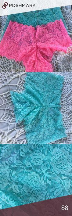 Jessica Simpson New panties. Lace boy shorts. Mint and pink. Jessica Simpson Intimates & Sleepwear Panties