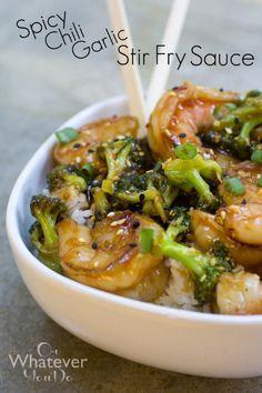 Spicy Chili Garlic Stir fry Sauce I www.orwhateveryoudo.com I #recipe #stir_fry #dinner