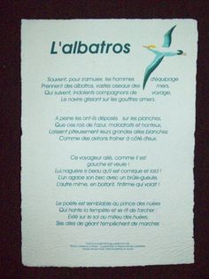 """"""" l'albatros """" poeme de Baudelaire"""