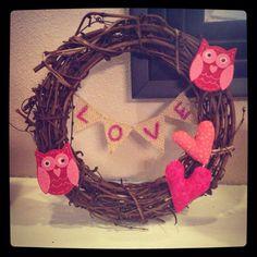 Valentine's Day Grape Vine Wreath