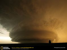 F5 Supercell Tornado | Texas Mother Ship Cloud - Weather Wallpaper Image featuring Tornadoes