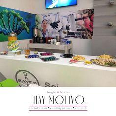 """Te compartimos un ejemplo de nuestro trabajo: Coffee Bar para stand sección VIP en el Evento """"Hecho en Alemania"""" de Bayer de México. www.haymotivo.com.mx"""