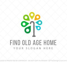 Logo For Startups In Location Spotter For Senior Citizens, companies having apps and softwares wherein to help people in finding old age homes and spot their location in their areas and related businesses.