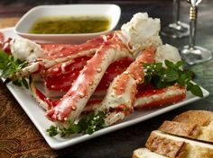 This huge crustacean comes from the Alaskan region of the Pacific Ocean and the Bering Sea. It is often regarded as on of the most delicious types of crab to be found in the world as the meat is very tender and juicy. The size of these Alaskan Red King Crab Legs is very large and will make you feel like a king or queen at their feast!  For the most part King Crab legs of this size are found in 5 star restaurants only.