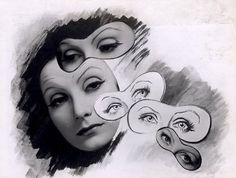 Greta Garbo's eyes, from Cecil Beaton's scrapbook, 1937