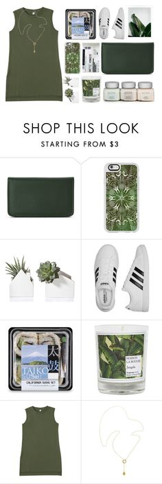 """seedling"" by petalprada ❤ liked on Polyvore featuring Buxton, Casetify, adidas, Maison La Bougie, Uniqlo and Melissa Odabash"