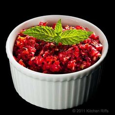 Thanksgiving Recipes : Cranberry Relish with Jalapeno Recipe