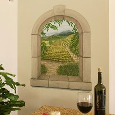 Tatouage's Removable Napa Valley Window Mural