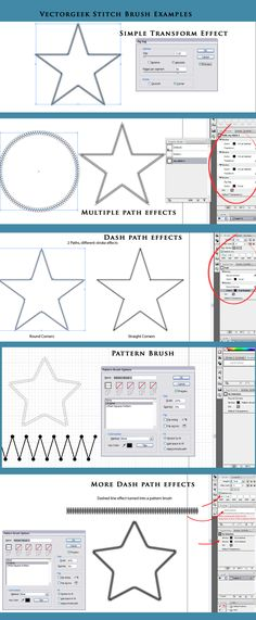 illustrator stitching tutorial from vectorgeek.com  -  lots of other tutorials & resources for illustrator here:  http://vectorgeek.com/tutorials-resources/
