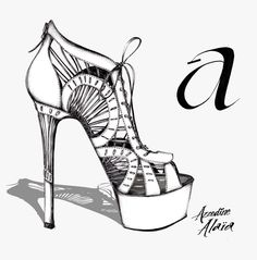 A is for Azzedine Alaïa from B is for Balenciaga An illustrated Alphabet of Designer Shoes Illustrated Reference of Heels Published: 2012 by Yanique Moore Georgetown DC USA (see http://ift.tt/2AU2cA4 and http://ift.tt/2iwaRC0) #rip #azzedinealaia #iloveshoes @yaniquemoore