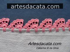 ideas for crochet edging tutorial hooks Crochet Edging Tutorial, Crochet Edging Patterns, Crochet Lace Edging, Crochet Designs, Easy Crochet, Crochet Flowers, Crochet Baby, Free Crochet, Knitting Patterns
