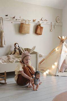 The peg rail finishes off this nursery perfectly Nursery Room, Baby Room, Boho Nursery, Roll Up Curtains, Reading Nook Closet, Minimalist Kids, Purple Pillows, Kids Bedroom Designs, Kid Closet