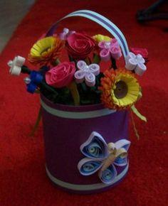 paper flower basket  see more ideas http://lomets.com/pin/paper-flower-basket/