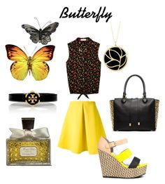 Butterfly by giubagnols on Polyvore featuring polyvore, mode, style, Vince Camuto, Antonio Marras, JustFab, Michael Kors, Tory Burch, Carelle, Christian Dior, fashion and clothing