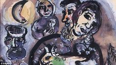 He tracked down nine paintings including Les Paysans by Marc Chagall (pictured)stolen from an LA mansion
