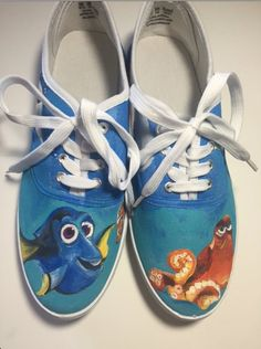 Finding Dory Shoes by ShoesbySues on Etsy