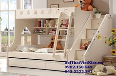 giuong-tang-tre-em-dep-giuong-tang-go-cong-nghiep-3i Childrens Bunk Beds, Girls Bedroom, Tiny House, Kids Room, Toddler Bed, Minimalist, Pillows, Furniture, Modern