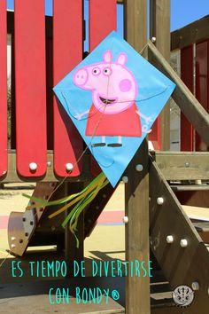 COMETA PEPA PIG #Cometa de #PeppaPig hecha con #Bondy ¡Vamos a jugar! #manudalidad #diy #kids
