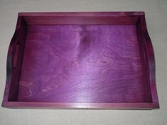 Decorative Dye-Stained Wood Trays   Rit Dye- MUCH cheaper than colored wood stain!