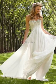 Shop 2013 Wedding Dresses Empire Waist Sweetheart Sweep Brush Train Chiffon Ruffles