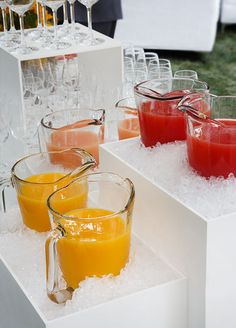 Love this Setup and Display for a Big Brunch!  Great party idea.