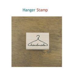 """Hanger """"Handmade"""" Rubber Stamp"""