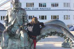 Julio Verne junto Náutico. Vigo con niños