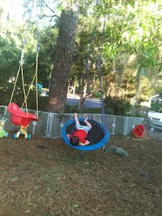 I decided to turn an older mini trampoline we had that was not in use into a swing! Graham and Parker LOVE swi. Trampoline Swing, Best Trampoline, Trampoline Ideas, Backyard Play, Outdoor Play, Professional Trampoline, Messy Play, Keep Fit, Diy Projects To Try