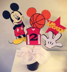 Basketball Mickey Mouse Centerpiece: