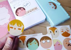 Stickers  Stickers Pack  Stickers Round  by littleatae on Etsy, €4.00