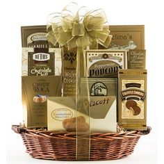 Sending your appreciation is easy to do. The Gourmet Basket for Business includes an assortment of cookies, fudge and other sweets. Available year round! See more at www.pro-gift-baskets.com!