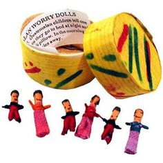 Guatemalan Worry Dolls in Traditional Box