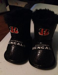 Loley pops creations Cincinnati Bengals baby boots fits 6-9 months on Etsy 8b4193ac8