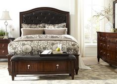 #havertys Asbury Square Bed will show off your polished sense of style in your sleeping space.