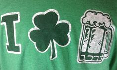 St Patricks T-Shirt 2XL Mens I Love Beer Graphic Green #Unbranded #GraphicTee