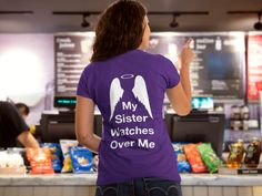 Discover R.I.P  Sister Watches Me T-Shirt from BigJim's Shirt Shop only on Teespring - Free Returns and 100% Guarantee - My Sister Watches Over Me