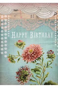 Papaya, Happy Birthday Card. Blank Inside $4