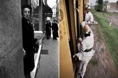 A sinistra: Bruno Barbey, Roma, 1966. A destra: Steve McCurry, Pakistan, 1983
