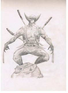 Wolverine Wolverine, Sketches, Drawings, Art, Art Background, Kunst, Gcse Art, Doodles, Drawing