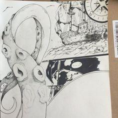 Fresh WTFDotworkTattoo Find Fresh from the Web #pen #dotwork #drawing #illustration #pirate #project #sea #ship #skull #kraken #tentacles #pointillism #compass #progress #uel the_anxious_artist WTFDotWorkTattoo