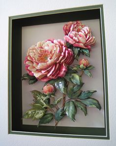 Absolutely gorgeous layers of paper tole! 3d Paper Crafts, Paper Art, Diy And Crafts, Grand Art, Arte Country, Paper Ribbon, Arte Floral, Mural Art, Paper Quilling