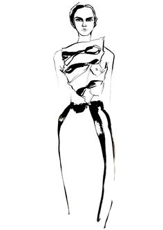 Fashion illustration for J.W. Anderson S/S 2014 // Louise O'Keefe